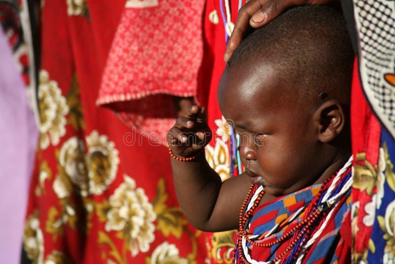 儿童肯尼亚马塞语 免版税库存图片