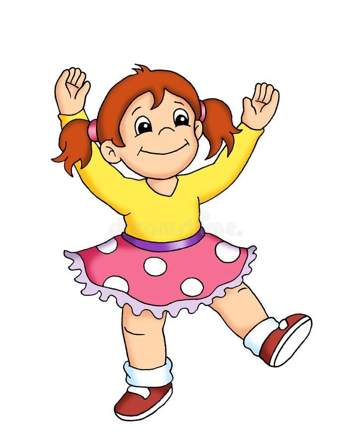 儿童舞蹈岩石 向量例证