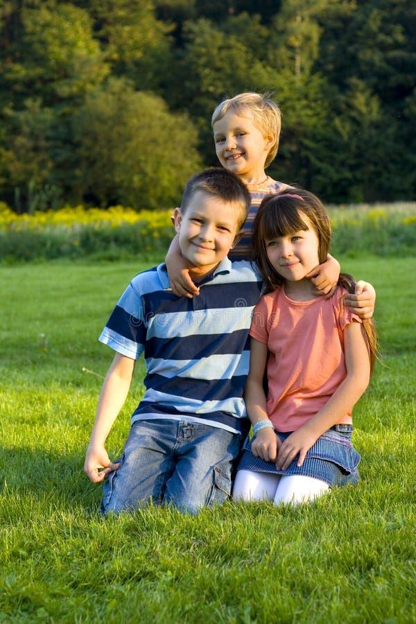 儿童草 免版税库存图片