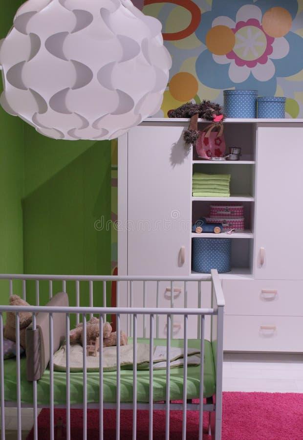 儿童设计内部现代空间 免版税库存照片