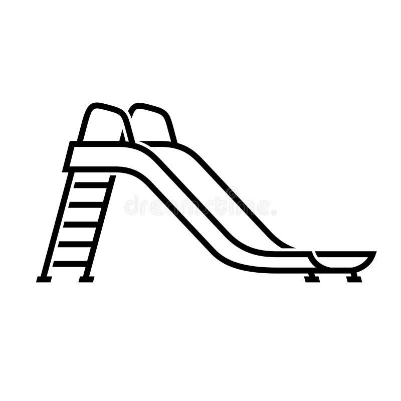 滑儿童象的操场 库存例证
