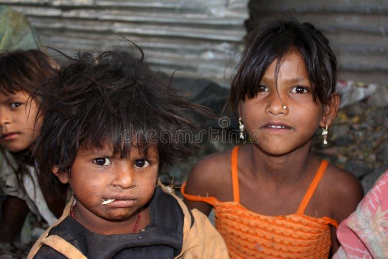 儿童贫穷 库存图片