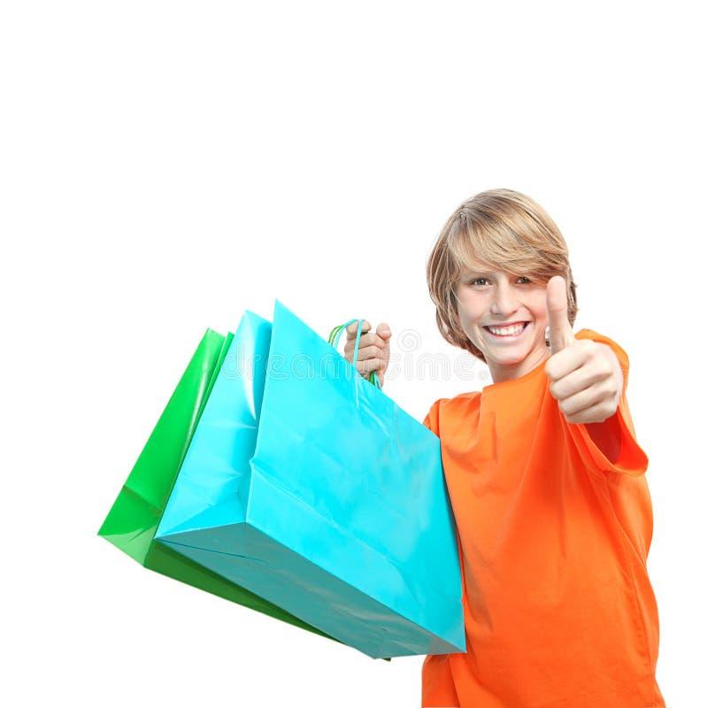 儿童购物 免版税库存照片