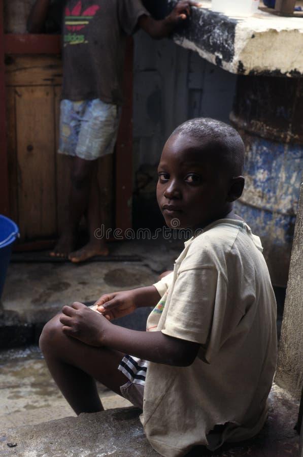 儿童赤道几内亚 库存图片