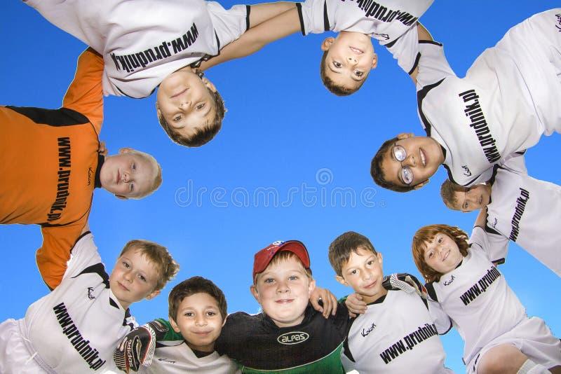 儿童足球队员 库存照片