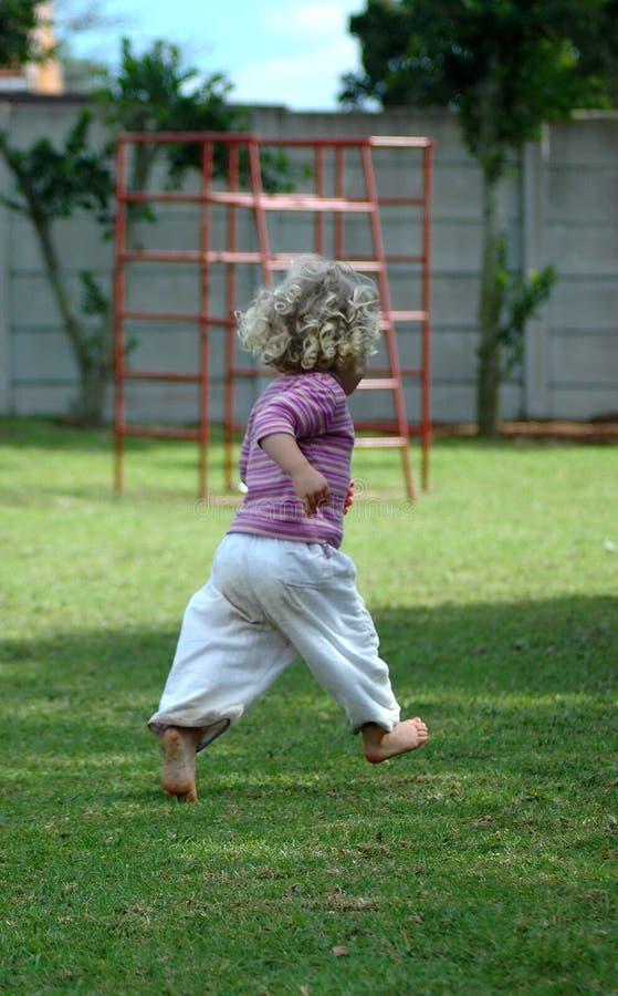 儿童运行中 图库摄影