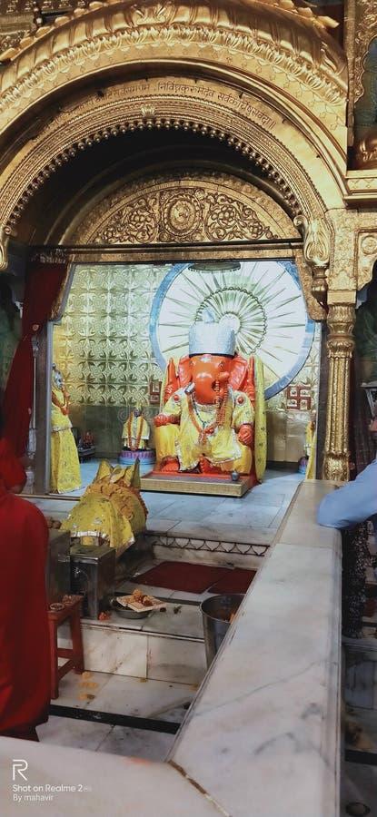 儿童逗人喜爱的历史ganesh寺庙斋浦尔 库存照片