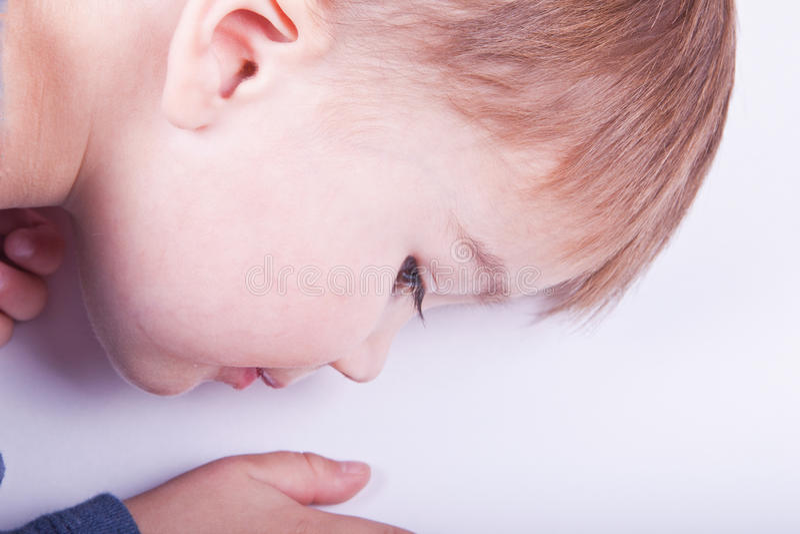 儿童配置文件 免版税库存图片