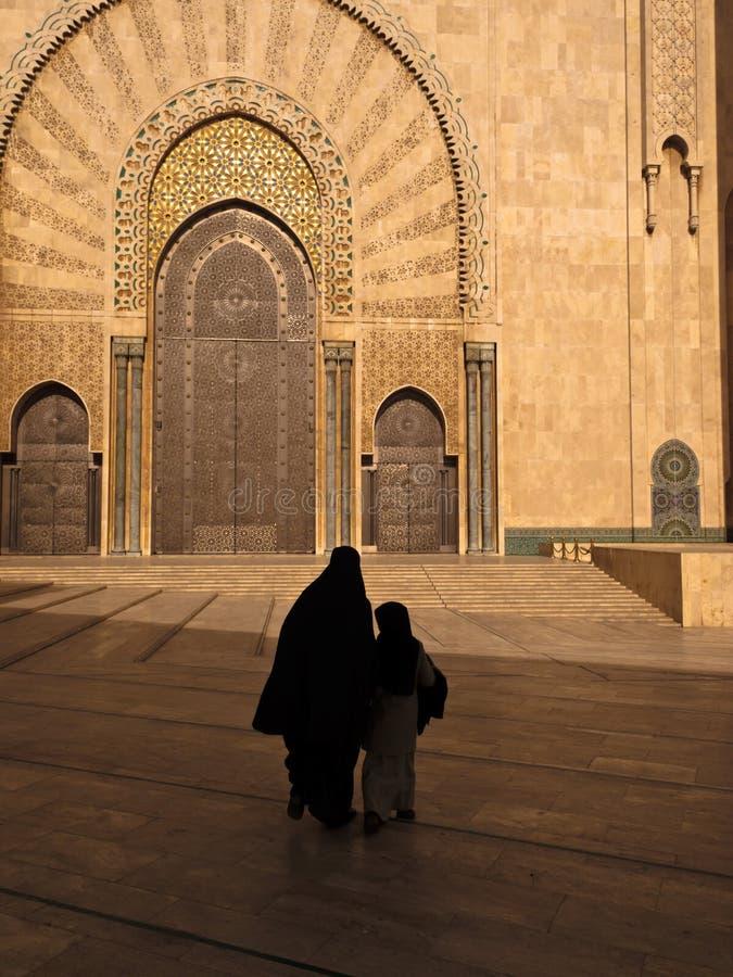 儿童门清真寺华丽妇女 免版税库存图片