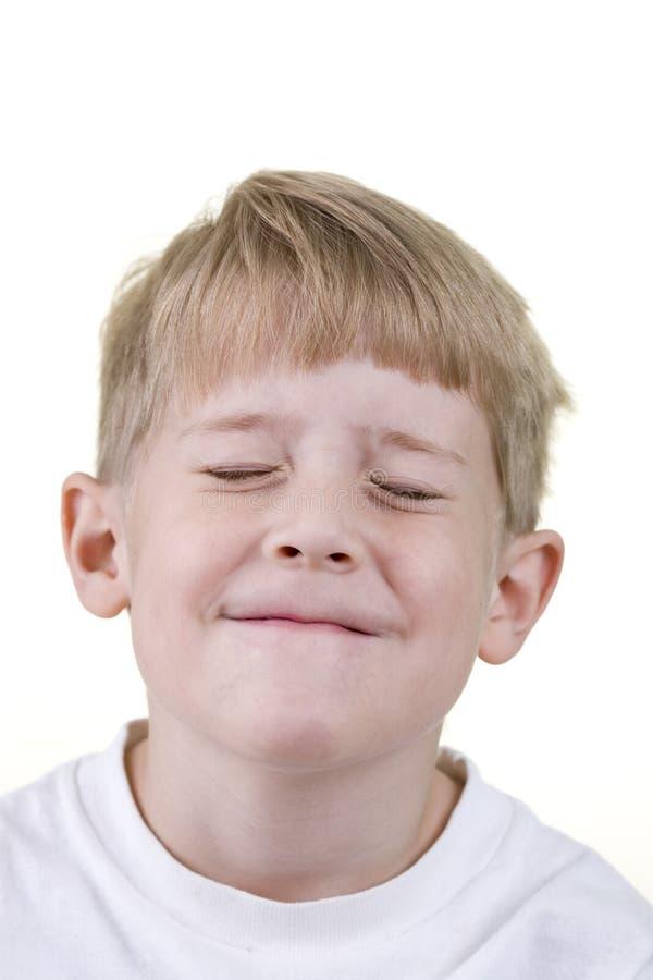 儿童闭合的眼睛 免版税库存照片