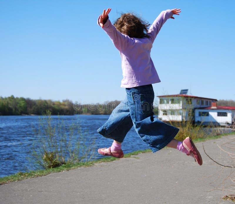儿童飞行 图库摄影