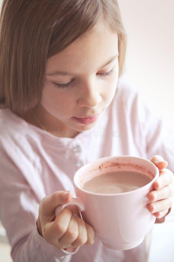 儿童饮用的可可粉 库存图片