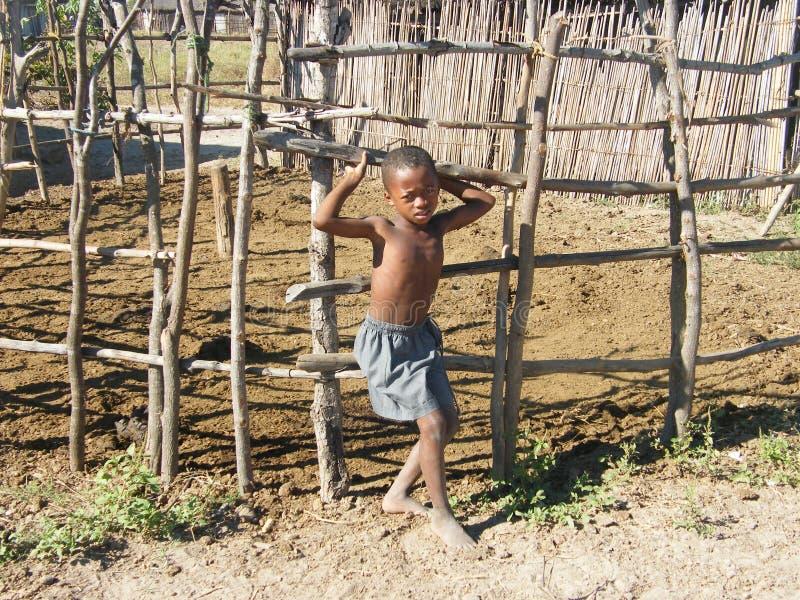 儿童马达加斯加人的当地人 免版税库存图片