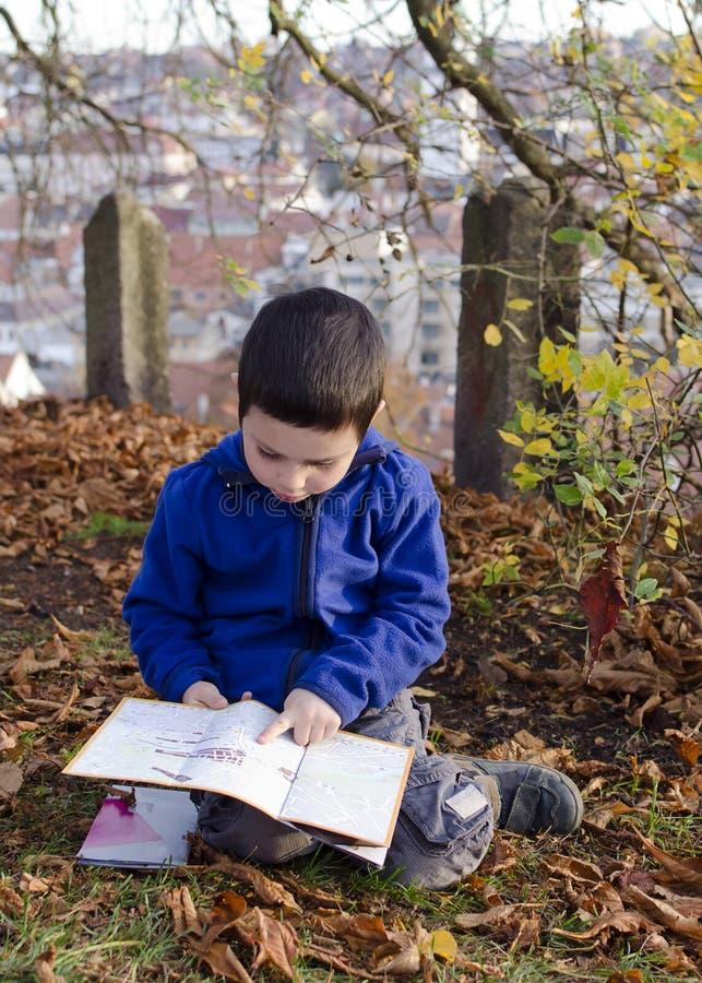 儿童读书地图 库存图片