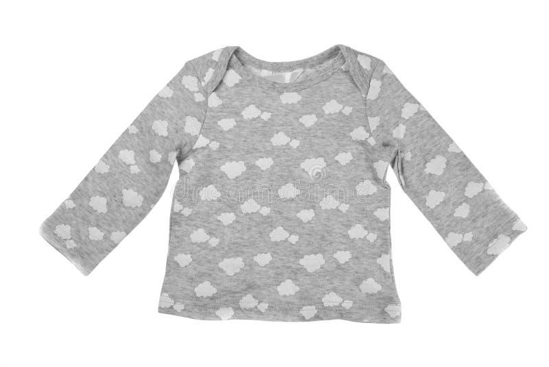儿童` s灰色夹克,孤立 库存照片