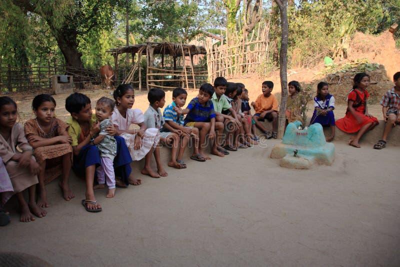儿童goa印度学校 免版税库存照片