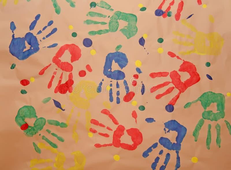 儿童handprint 向量例证