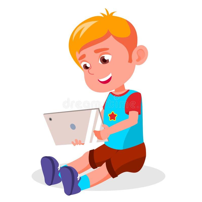 儿童s小配件依赖性传染媒介 瘾被画的现有量例证互联网向量白色 观看的录影,打比赛 现代技术 查出 皇族释放例证