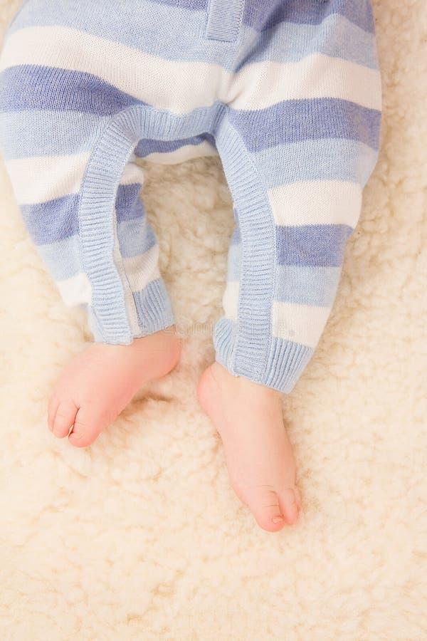 婴儿脚 库存照片