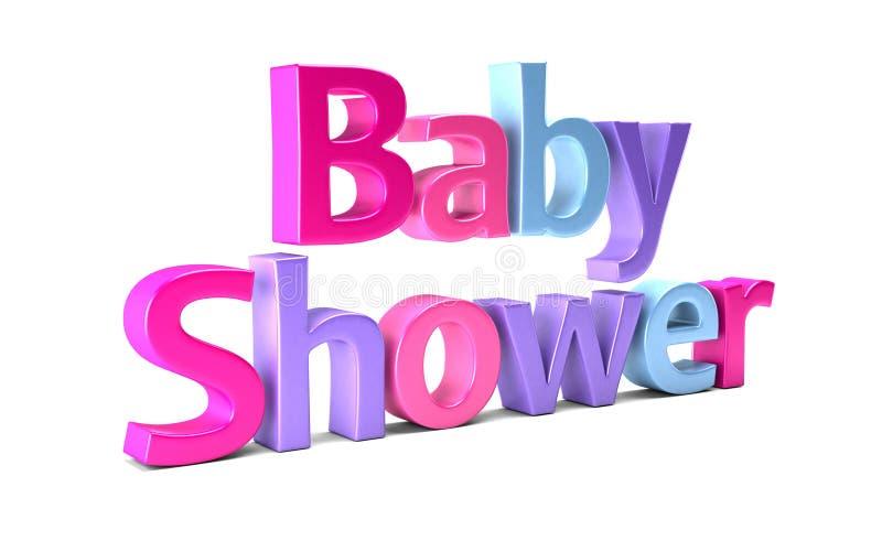 婴儿送礼会庆祝词 截去容易的编辑文件例证的3d包括了路径翻译 向量例证