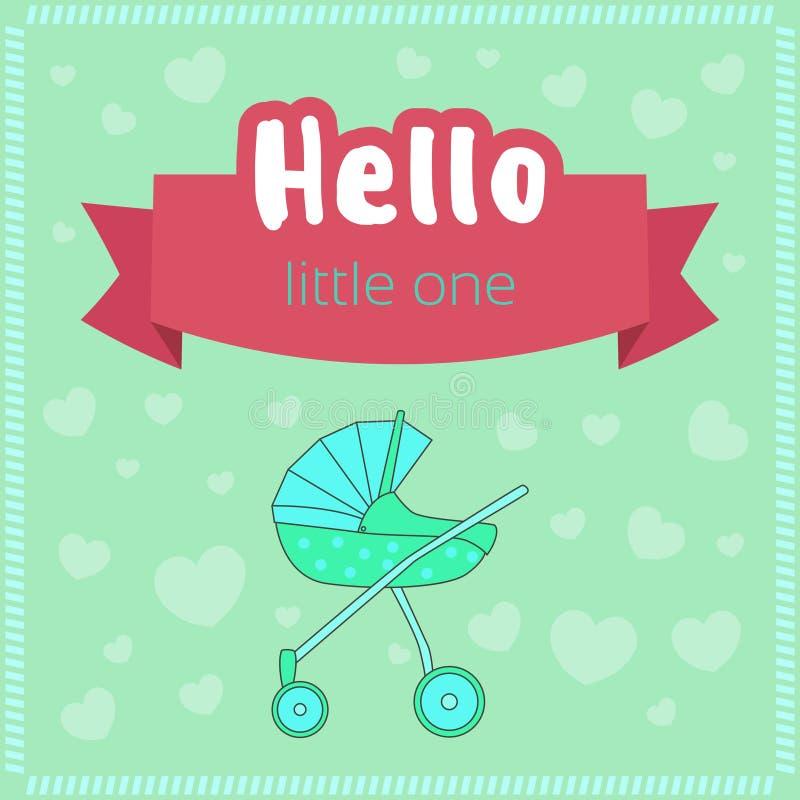 婴儿送礼会桌集合 向量例证