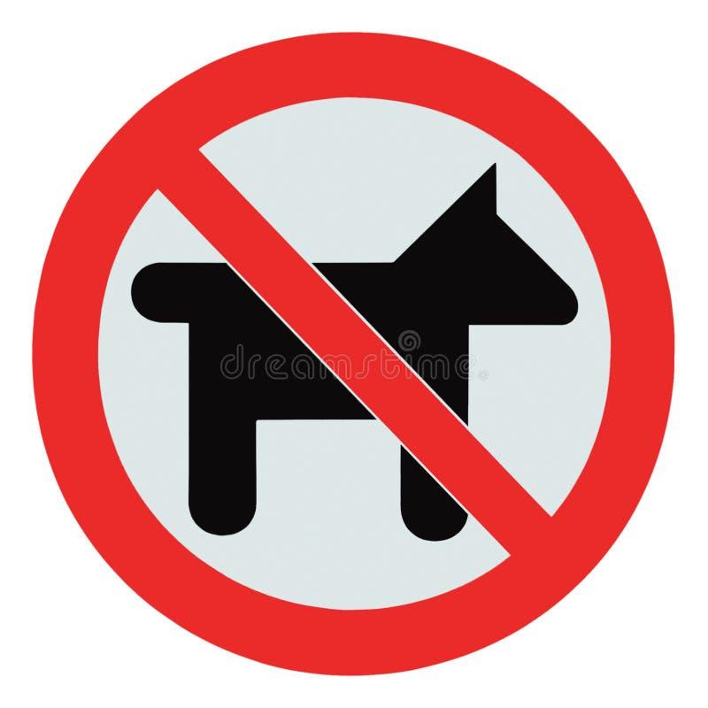 允许的狗没有查出宠物符号标志警告 库存照片