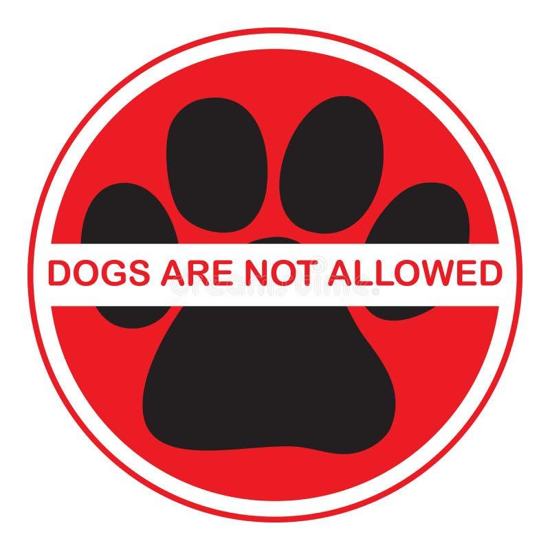 允许的狗没有 皇族释放例证