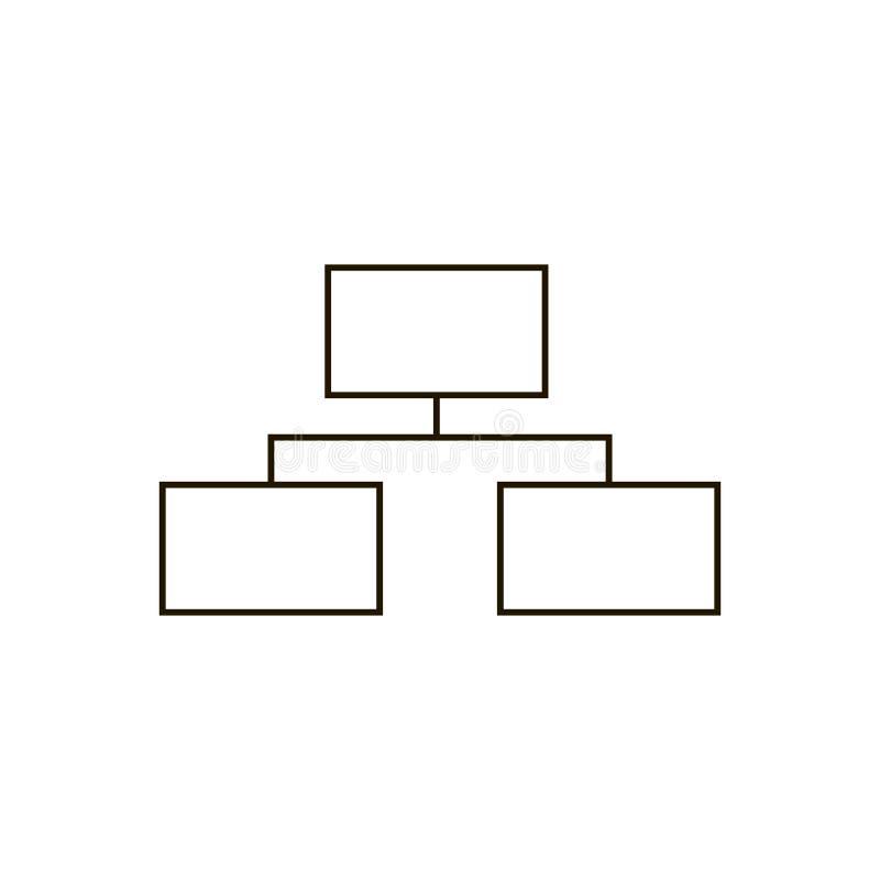 元素树结构的矢量图象  黑计划 库存例证