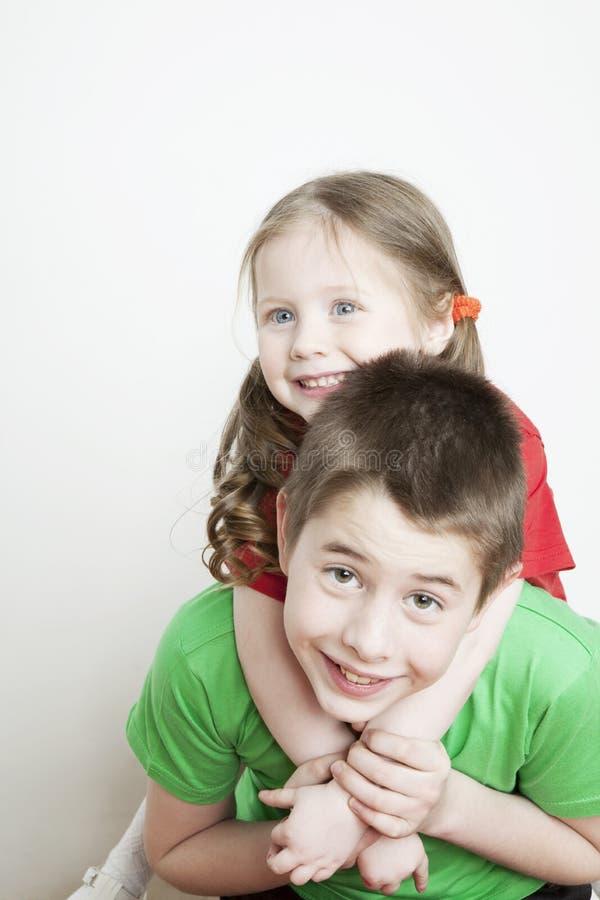 兄弟儿童纵向姐妹 免版税库存图片