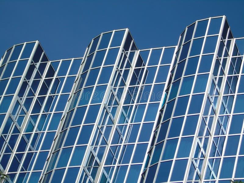 充分修造玻璃的事务 免版税库存图片