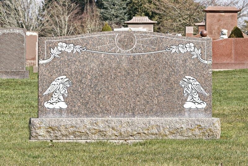 充分大公墓大墓碑 库存图片