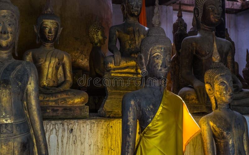 充分室Buddhas 免版税库存照片