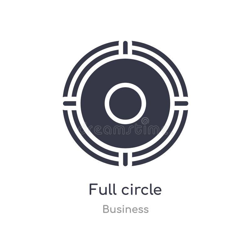 充分的圈子概述象 被隔绝的线从企业汇集的传染媒介例证 编辑可能的稀薄的冲程充分的圈子象 库存例证