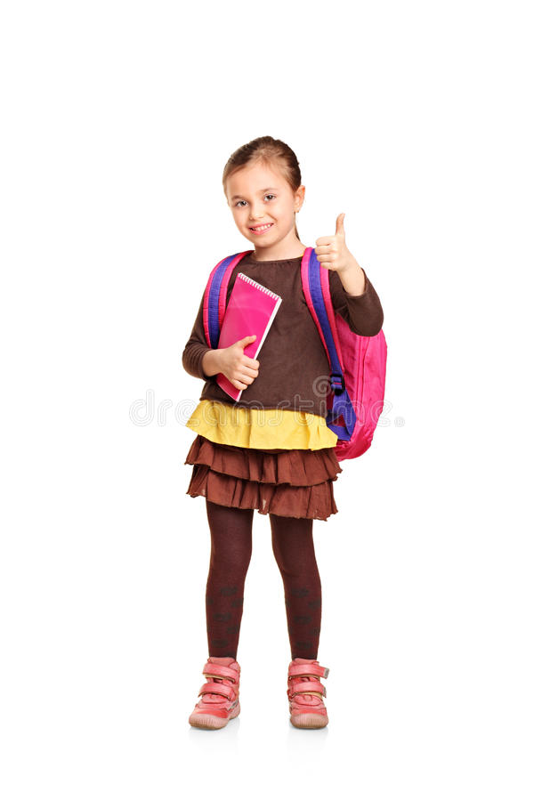 充分的女孩长度纵向学校 库存图片