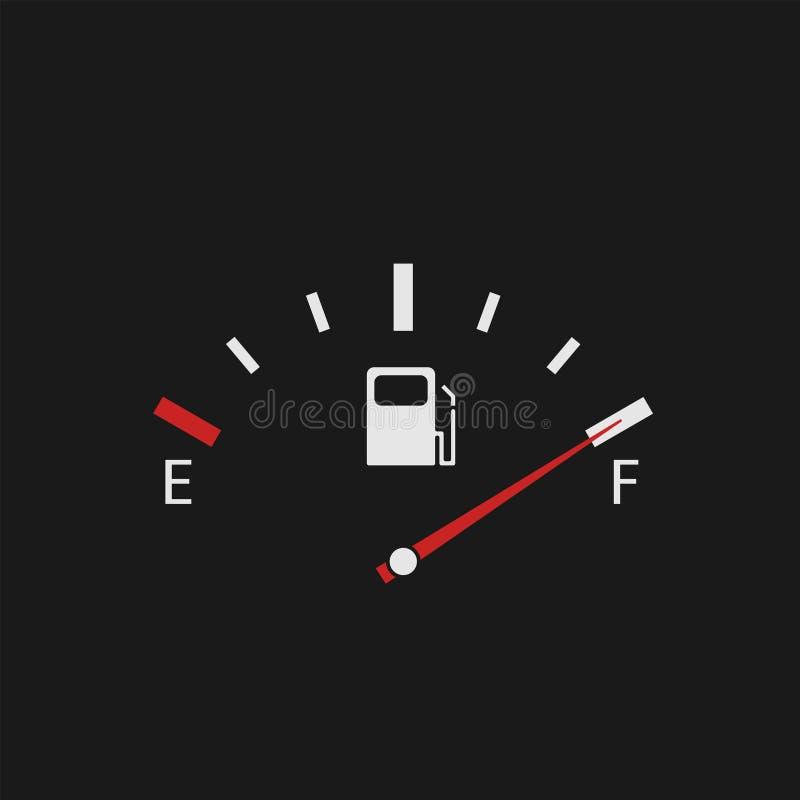 充分的汽油箱显示 向量例证