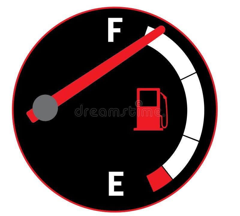 充分的汽油箱 免版税库存图片