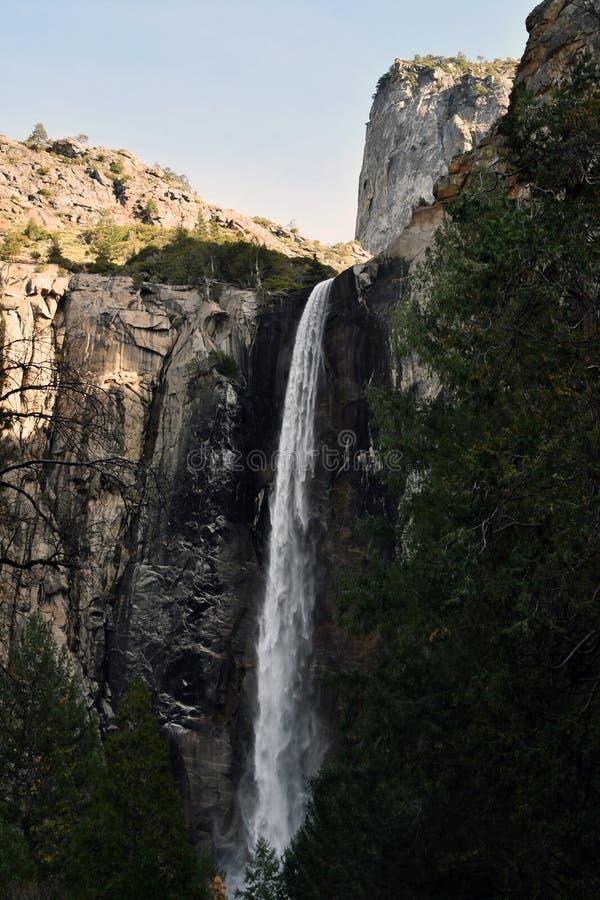 充分的瀑布在优胜美地公园 免版税图库摄影