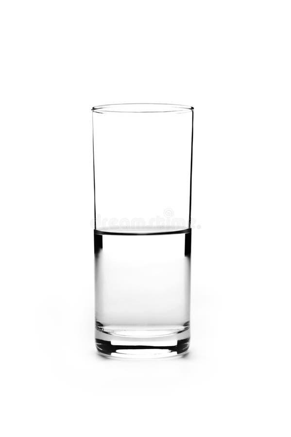 充分的玻璃一半 免版税图库摄影
