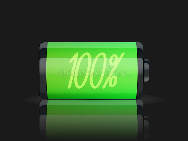 充分的电池显示 库存例证