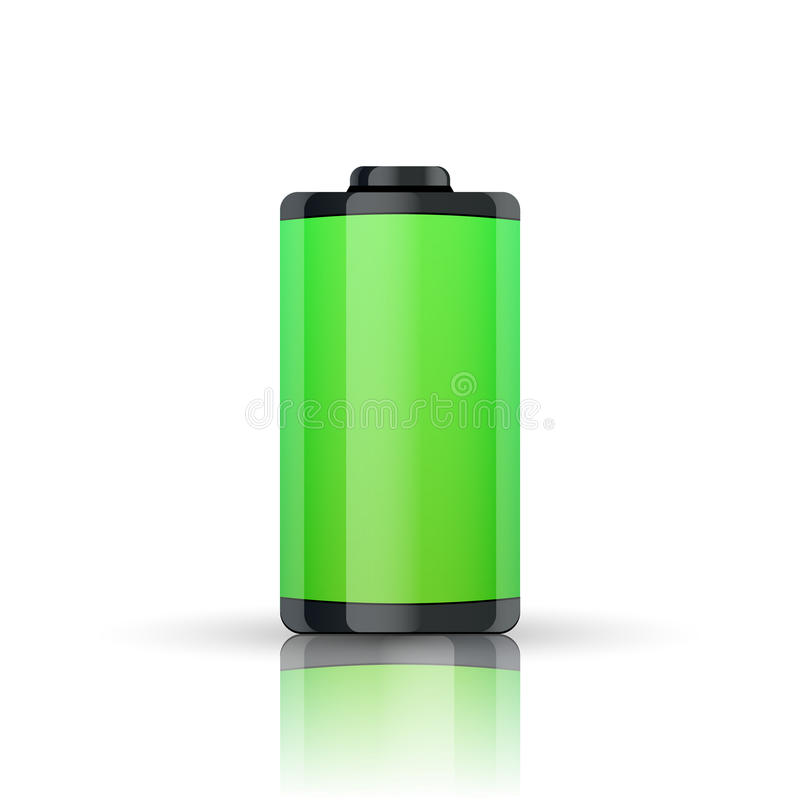 充分的电池显示 皇族释放例证