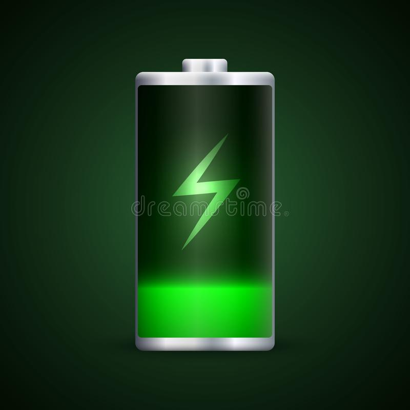 充分的能量电池充电 库存例证