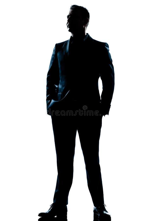 充分的英俊的长度人常设诉讼 免版税库存图片