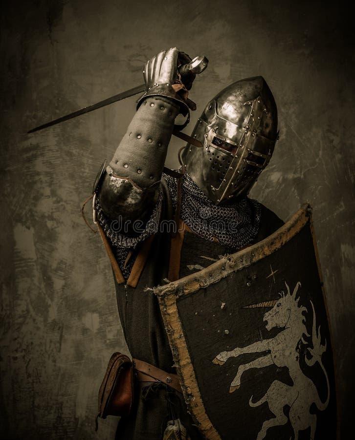 充分的装甲的骑士 库存图片