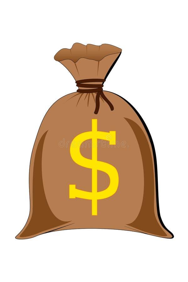 充分的货币大袋 库存例证