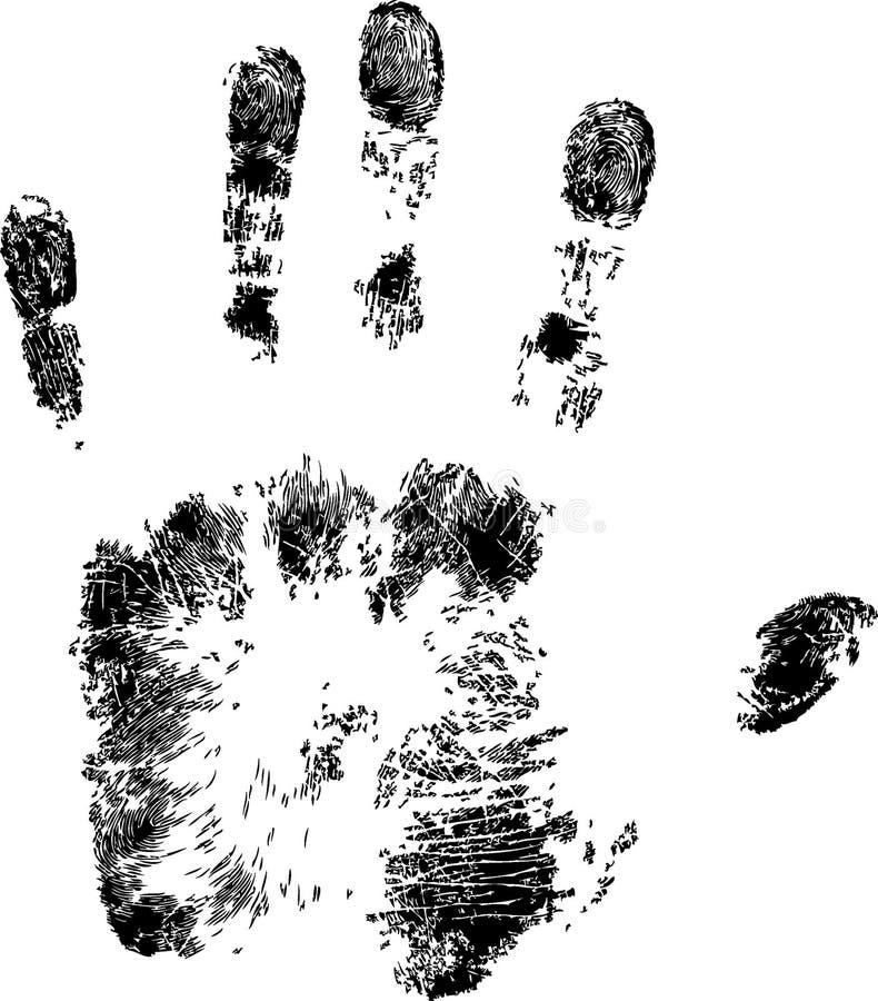 充分的handprint 向量例证