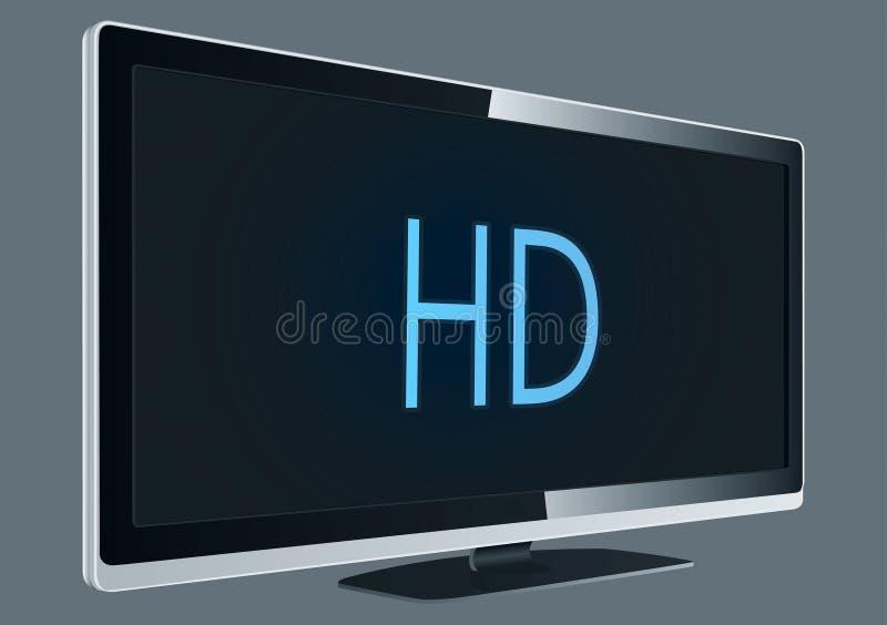 充分的hd电视 皇族释放例证