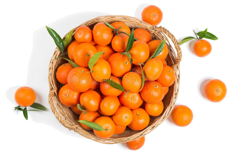 充分篮子柑桔橘子 库存图片