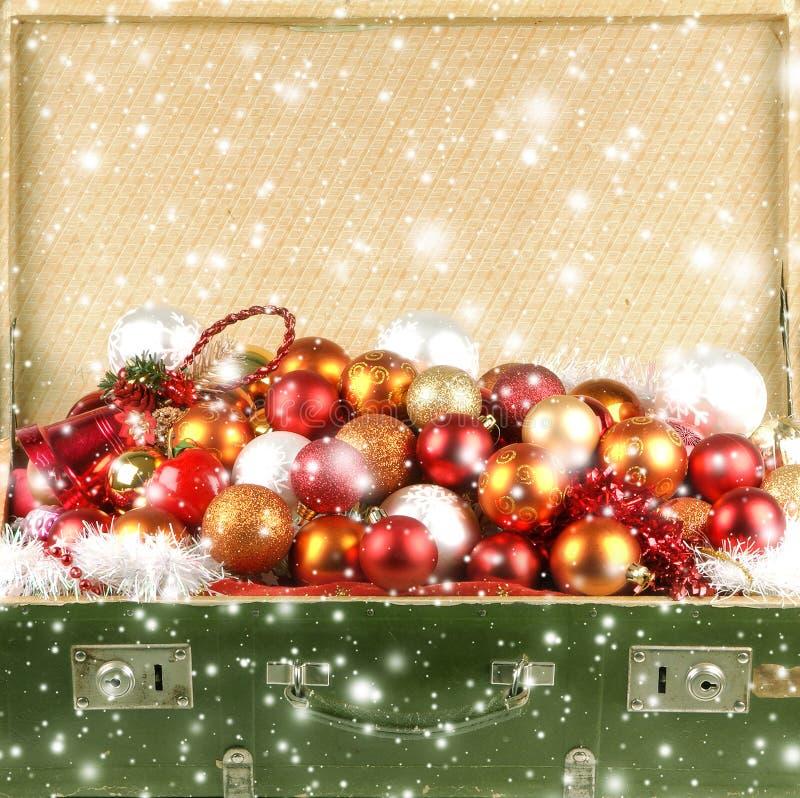 充分老胸口圣诞节球 图库摄影