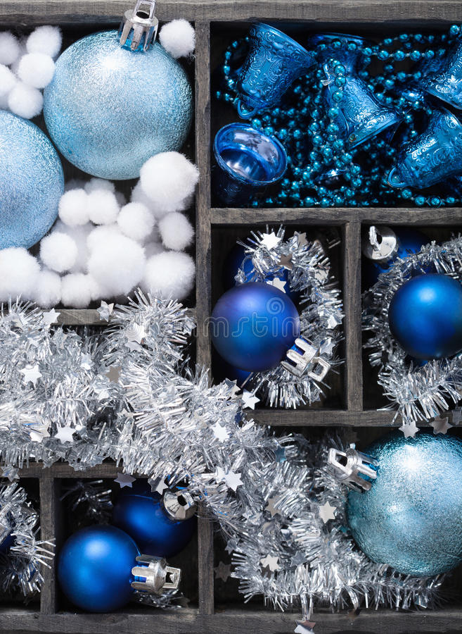 充分黑匣子圣诞节装饰 免版税图库摄影