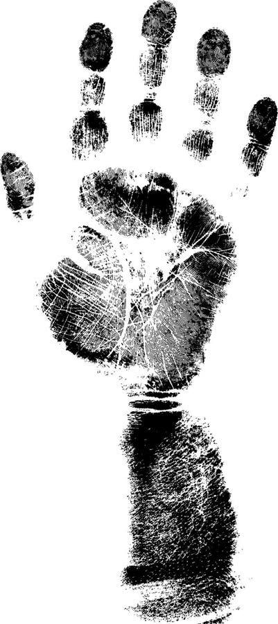 充分armprint 向量例证